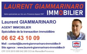 CARTE VISITE LAURENT GIAMMARINARO IMMOBILIER